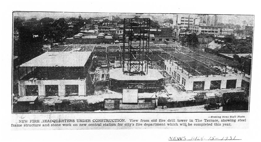 Current headquarters under construction in 1931